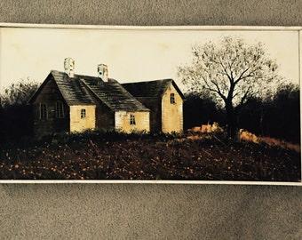 Oil painting, farmhouse