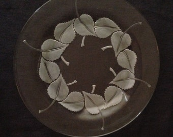 Set of Eight Lalique Leaf Plates - For Salad, Dessert or Appetizers