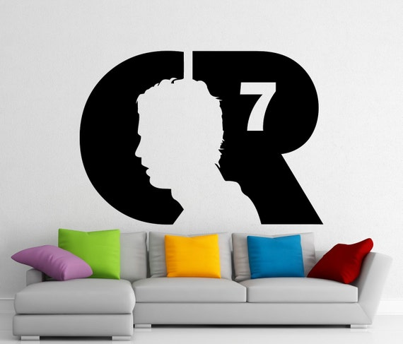 Cristiano ronaldo wall vinyl decal real madrid cr7 sticker for Interieur stickers