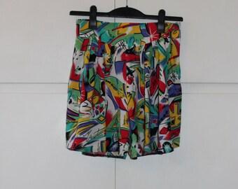 Vintage 1980s Culottes Shorts Summer Skorts | Size 8 10