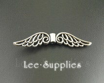 10pcs Antique Silver Bronze Alloy Angel Wings Spacer Beads Charms Pendant A773/A772