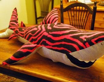 Stuffed Pink Tiger Shark