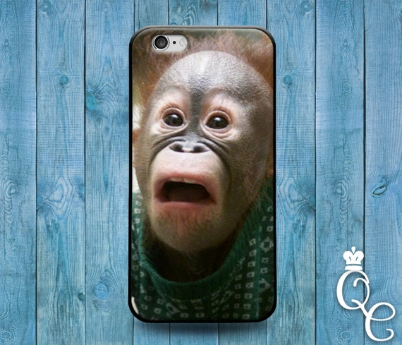 iPhone 4 4s 5 5s 5c SE 6 6s 7 plus iPod Touch 4th 5th 6th Generation Cover Funny Monkey Face Case Cool Phone Gift Idea Animal Look New