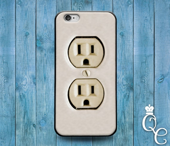 iPhone 4 4s 5 5s 5c SE 6 6s 7 plus iPod Touch 4th 5th 6th Gen Cool Wall Electrical Socket Phone Cover Funny Case Cute Unique Nerd Geek Gift