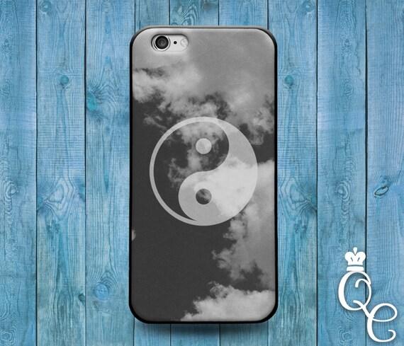 iPhone 4 4s 5 5s 5c SE 6 6s 7 plus iPod Touch 4th 5th 6th Gen Cloudy Clouds Ying Yang Man Woman Boy Girl Cute Relationship Case Cover