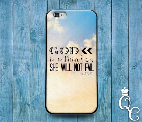 iPhone 4 4s 5 5s 5c SE 6 6s 7 plus iPod Touch 4th 5th 6th Gen Cute Girly Girl Woman Bible Quote God Jesus Phone Cover White Cloud Case