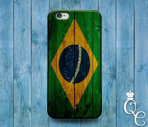 iPhone 4 4s 5 5s 5c SE 6 6s 7 plus iPod Touch 4th 5th 6th Generation Brazil Pride Country Flag Nation Cover Cute Green Wood Fun Case
