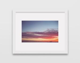Sunset Print,  Sunset in Hawaii, Ocean Art, Sunset Photography, Wall Decor, Gift, Fine Art Photography