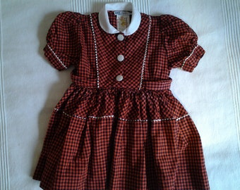 dress child vintage 1950