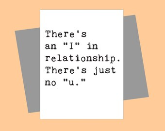 Greeting Cards, Breakup Card, Funny Card, Wholesale, Friend Card, Card for Him, Card for Her, Love Card