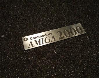 Amiga 2000 Label / Aufkleber / Sticker / Badge / Logo Silver 90mm x 20mm [250]