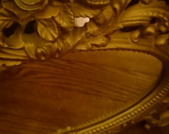 Small Oval Antique Mirror