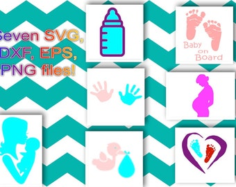 Seven Svg, Dxf, Eps Png baby shower files