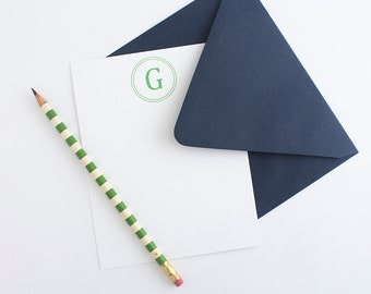 Personalized Stationery - Set of 10 Note Cards // Simple Monogrammed Stationery Set // Men's Stationery // Simple Business Stationery