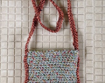 Crochet phone & wallet shoulder pouch