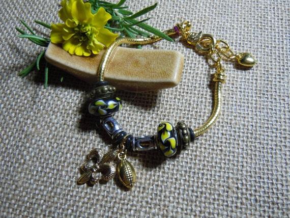 New Orleans Saints Chain Charm Bracelet