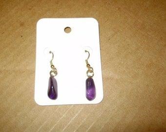 """Beautiful Amethyst Earrings """"Dangle Type"""""""