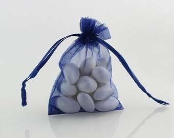 6 x 8 Navy Blue Organza Bag // 6 x 8 in // Organza Bags // BBBsupplies {CR-O-N003}