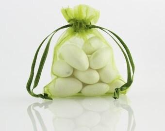 4 x 6 Olive Green Organza Bag // 4 x 6 in // Organza Bags // BBBsupplies {CR-O-V002}