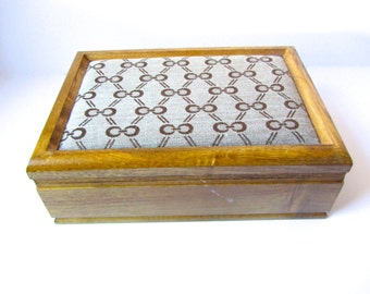 SALE* Wooden Jewelry & Storage Box