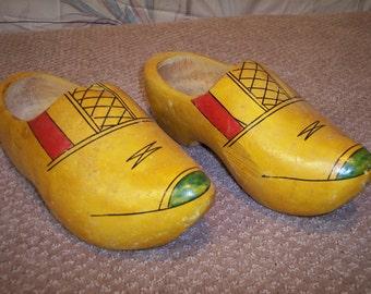 Vintage Dutch Wooden Shoe (Clogs)