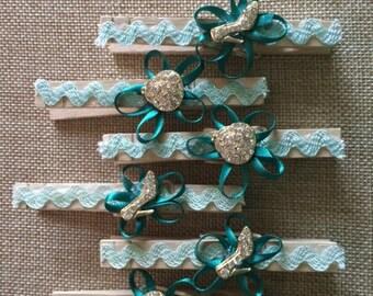 Sale! Shoe Purse Decorative Clothespins Set of 6