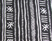 Black and White, Tribal Print, Indian Cotton, Boho Fabric, by the yard, Iight weight cotton, pure cotton,Trendy Prints,Designer Fabric