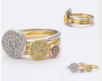 Multi color stackable rings