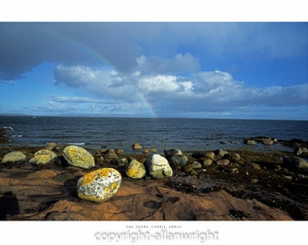 Rainbow and the Shore, Corrie, Isle of Arran