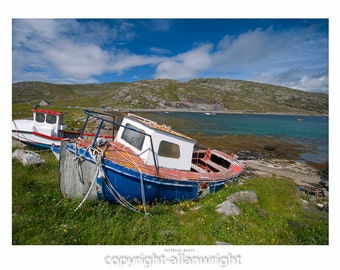 Boats on beach, Vatersay Outer Hebrides