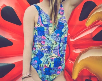 Vintage Patterned One-Piece