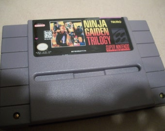 Ninja Gaiden Trilogy Snes Super Nintendo Reproduction Game