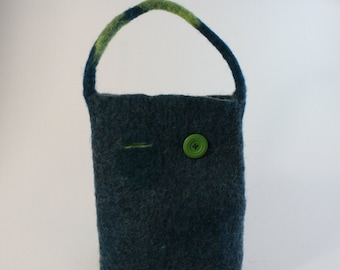 Blue and green purse