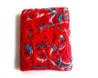Beautiful felted notebook cover, wool, wet felting