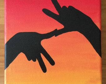 KKG Throw What You Know Sunset Canvas