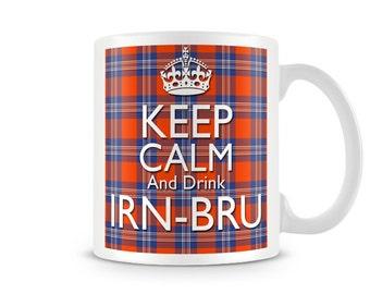 Keep calm and Drink Irn - Bru (Tartan) Mug KC_308