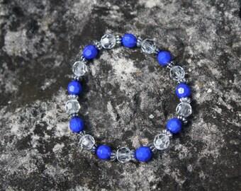 Aruba Blue Bracelet, Royal Blue Bracelet , Blue Bracelet, Blue Beaded Bracelet, Beaded Bracelet