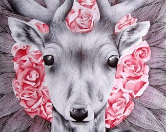 Deer   / Mixed Media (Original)