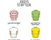 You are the jerseys to my tour - A6 postcard