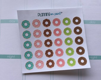 30 Donut Planner Stickers!