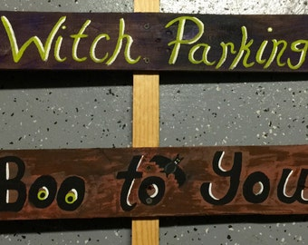 Halloween Directional Signs