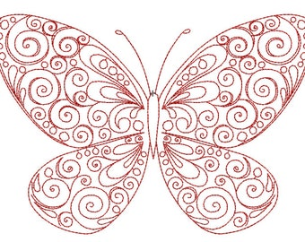 Butterfly Embroidery Design (VAR024)