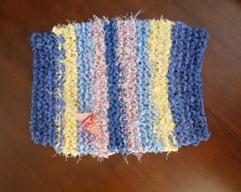 Hand knit Bath Mat