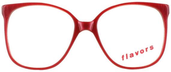 Red 1980s Plastic Eyeglasses Frames by EyeglassesWarehouse ...