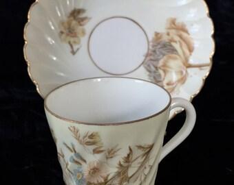 Vintage, Porcelain Demitasse Cup and Saucer