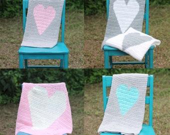 Baby Heart Crochet Blanket