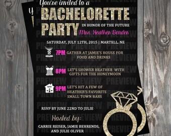 Bachelorette Girls Night Out Invitation
