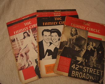 Authentic 'The Family Circle' Magazines from 1940's