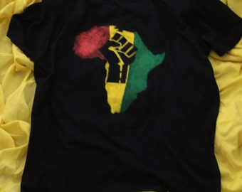 Black Fist Afrika Black T