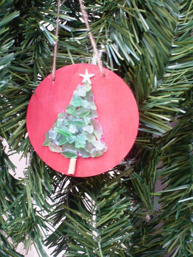 Sea Glass Christmas Tree Ornament